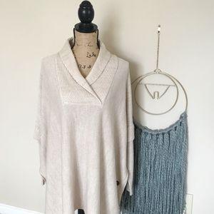 ◦ RD STYLE ◦  Beige oversized sweater shawl